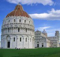 Il battistero di Pisa e la piazza dei miracoli